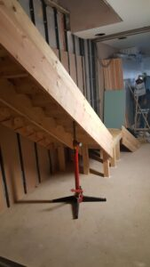 Stairs lifting, installation