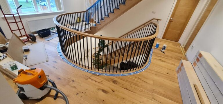 Floor joint to the stairs gallery