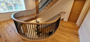 Curved gallery and stairs
