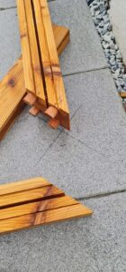 pergola horizontal structure joint with dowels