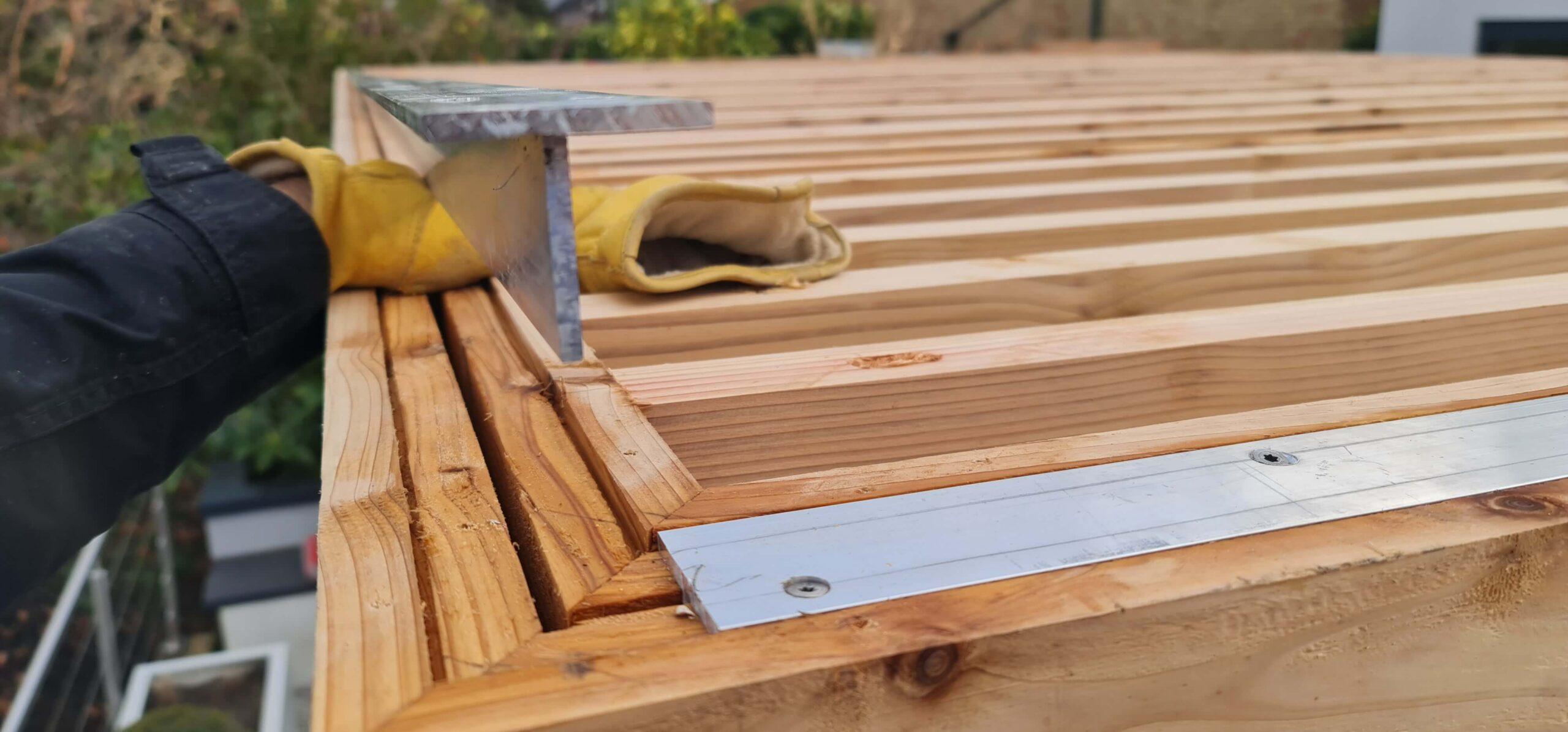 Pergola top structure reinforcement