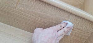 Wiping off adhesive